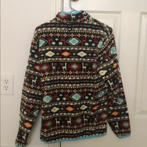 Southern Marsh Tops - Southern Marsh Patterned Sherpa Pullover